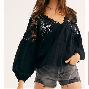 Free People Lina Lace Top.